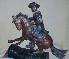 VINTAGE 1980's FREDERIC REMINGTON BRONZE STATUE, THE COWBOY