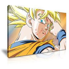 DRAGON BALL Z Son Goku Super Saiyan Cartoon Canvas Framed Print  ~ More Size