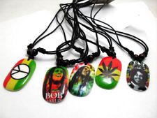 Bob Marley Necklaces Brown & Black Leather Bands Adjustable Straps ❤Aus❤