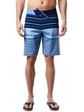 NEW VOLCOM board shorts LIDO Liner mod blue stripe size 30  4 way stretch