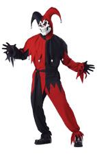 Horror Hofnarr Rot Kostüm Clown Halloween Karneval Verkleidung Herren