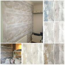 Driftwood Wallpaper - Shabby Chic Design Studio  - Nautical Scrap Wood Effect