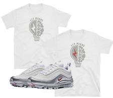 "Nike Air Max 97 95 Plus Metallic Silver White Bullet ""Lit Minds"" WHITE SHIRTS"