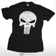 Punisher Totenkopf Kult T-Shirt Panikmacher Chaos Skull bmx skater comic S-3XL