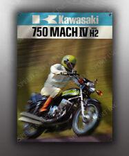 VINTAGE KAWASAKI 750 MACH IV MOTORCYCLE BANNER