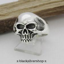 Totenkopf Ring Silber 925 Skull Biker Metal Gothic Wikinger Damen Herren