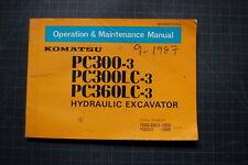 KOMATSU PC300 PC360LC EXCAVATOR Operation/Operator Maintenance Shop Manual 1987
