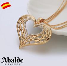 Collar Colgante Mujer Corazón Love Amor Oro Joya Accesorio Regalo Navidad Reyes
