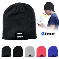 Soft Warm Beanie Hat Headset Headphone Speaker Mic Wireless Bluetooth Smart Cap