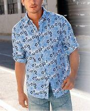 youman Camisa Casual Nuevo Azul De Hombre Tallas Extra Grandes Manga Larga