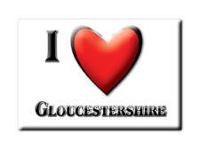 SOUVENIR UK - ENGLAND FRIDGE MAGNET UNITED KINGDOM I LOVE GLOUCESTERSHIRE
