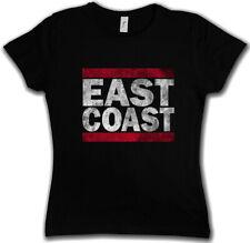 EAST COAST DAMEN T-SHIRT Run Fun DMC USA United States New City Band Side West