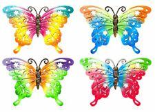 Rainbow Metal Butterfly Garden Hanging Wall Art Plaque Ornament Decoration