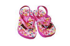 Girls Cupcake DORA THE EXPLORER Glitter Flip Flop Sandals Shoes 5 6 7 8 9 10 NEW