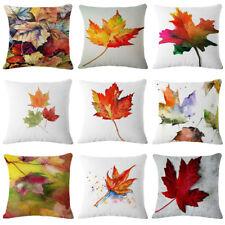 "18x18"" Maple leaf Linen Cotton Throw Pillow Case Cushion Cover Home Sofa Decor"