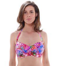 Fantasie Punta Cana FS6171 Hot Coral UW Twist Bandeau Bikini Top Swimwear NWT