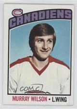 1976-77 Topps #254 Murray Wilson Montreal Canadiens Hockey Card