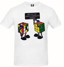 Rubik's Cube T-Shirt Geek Big Bang Theory Unisex Mens Gift Jokes Funny Top Tee