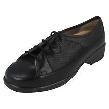 Equity pour femmes noir/étoile cuir suédé imprimé chaussures en à lacets rose