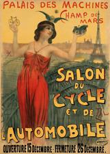 Salon Du Cycle Vintage Bicycle Poster Print Art Advertisement - Cycling - Bike