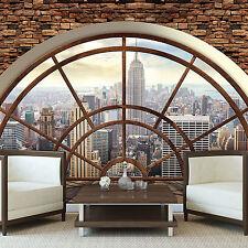Tapete Fototapeten Tapeten Wand Meuer Fenster Ausblick Stadt New York 14N2397P8