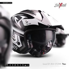 SOXON SR-400 STORM TITAN /CASQUE-JET DE MOTO SCOOTER VESPA CYCLOMOTEUR ECE XS-XL