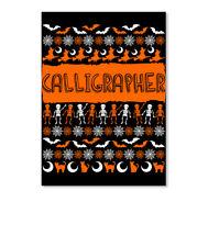 Cool Calligrapher Ugly Halloween Gift Sticker - Portrait