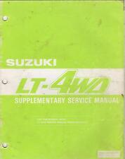 1988 SUZUKI  ATV LT-4WD SUPPLEMENTARY SERVICE MANUAL 99501-42120-01E