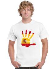 Spain Espana T Shirt Hand print design with Spanish Flag