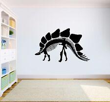 Dinosaur Stegosaurus Skeleton Kids Bedroom Vehicle Vinyl Wall Sticker