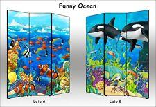 Separè per bambini Ocean - Parete divisoria a 3 o 4 ante made in Italy
