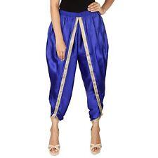 Indian Women's Satin Silk Dhoti Pant Patiala Free Size Dhoti Salwar For Girls