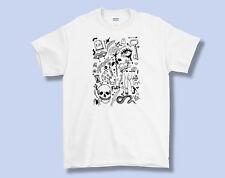 Hoja De Flash Tatuajes Camiseta, Camiseta Adulto S M L XL, bajo la ceja Arte Tat Alt Cultura