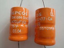 Epcos sikorel b41684-s0477-q4 ll 470µf 75v 125 ° C * nuevo *