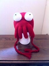 Hand Crochet Futurama Dr. Zoidberg Hat Beanie Made to Order NEW!