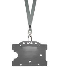 grigio argento Id Collo laccio corda MOLLETTA CORDINO & carta badge targhetta