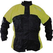 Richa Rain Warrior All Weather Black/flu 100% Waterproof Motorcycle Over Jacket