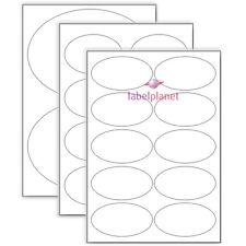 Hojas A4 Oval Etiquetas En Blanco Mate Blanco Auto adhesivo pegatinas Etiqueta Planeta ®