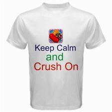 Keep Calm and Crush On Candy Crush Saga T-Shirt White CC1