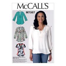 Gratis UK P & P-McCalls onorevoli facile CUCIRE PATTERN 7357 A FASCE TOP con YO...