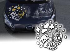 Autoaufkleber Poker Skull Motorhaube Pkw A401 Motorhaubenaufkleber Folie JDM OEM