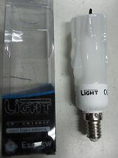 LAMPADA E14 LAMPADINA 5W F CANDELA VETRO a BASSO CONSUMO RISPARMIO x LAMPADARIO
