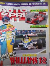 Autosprint 25 1989 Montreal Mc Laren Ko - Ok Williams