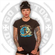 Dragstrip Clothing Vince Ray Girl T`shirt Tiki Surfer Lucky 13 hot rod t`shirt