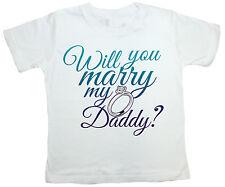 "Marriage Proposal CAMISETA ""Will You Marry My Daddy ?"" Anillo De Compromiso Boda"