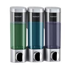 Soap Dispenser Wall Mounted Shampoo Bottles Triple Detergent Shower Gel