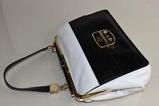 NEW Jason Wu Miss Wu Shoulder Bag Purse Clutch Black White Leather Owl Two tone