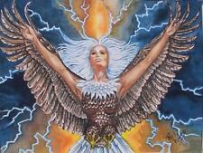 "Amazon Woman Series ""Eagle Magic""  Feminist Lesbian Pat Wiles Fantasy Print"