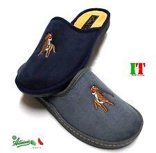 Pantofole ciabatte uomo MADEinITALY calde numeri grandi  italiane Rondine2090
