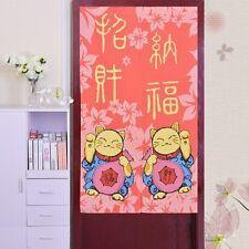 Japanese Cute Lucky Cat Door Curtain Taiwan Feng Shui Living Room Bedroom Decor